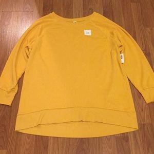 NWT Old Navy Mustard/Yellow Tunic Sweatshirt